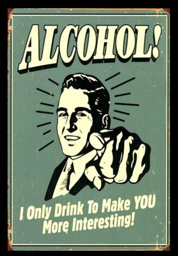 Funny Alcohol Retro Vintage Alcohol Bar Pub Restaurant Posters #34 A3 size