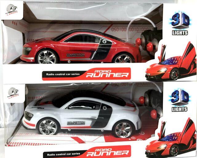 3D LUCI R/C RADIOCOMANDATO A BATTERIA Road Runner auto da corsa giocattolo 1:18