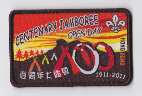 201011 SCOUTS OF HONG KONG HK SCOUT CENTENARY JAMBOREE OPEN DAY PATCH