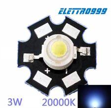 LED 3W 18.000 20.000K° + supporto star per acquario marino reef, barriera