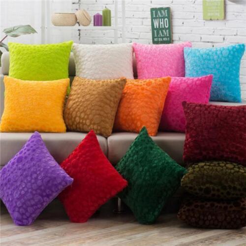Soft Throw Pillow Case Cushion Cover Faux Fur Home Decor Plush Square Fluffy MA