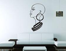 Ebony Wall Sticker Mural Decal Vinyl Decor Beautiful Woman Bold Salon Africa