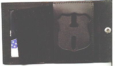 OF Defense Snap Wallet Recessed Badge Cut Out /& ID Window CT-03LGR Dept