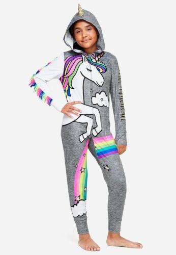 20 NEW NWT Girls Justice One Piece Unicorn Pajamas PJs Size 18
