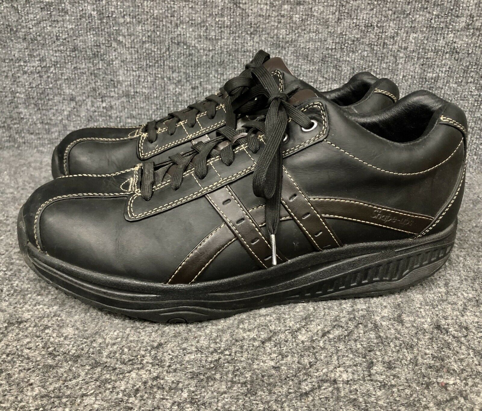 SKECHERS 66504 forma UPS XT OVERHAUL Rocker inferior Zapatos Negro para Hombre   como Nuevo