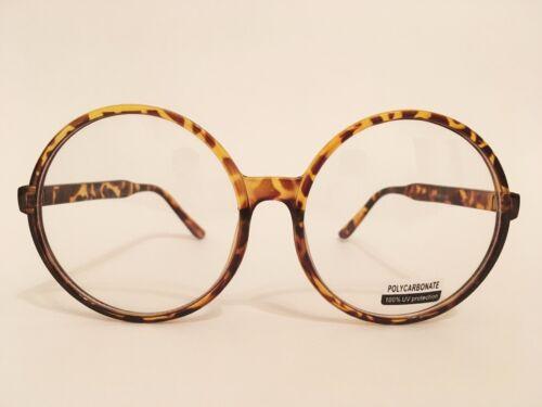 CLASSIC VINTAGE Style Clear Lens EYE GLASSES Large Round Tortoise Fashion Frame