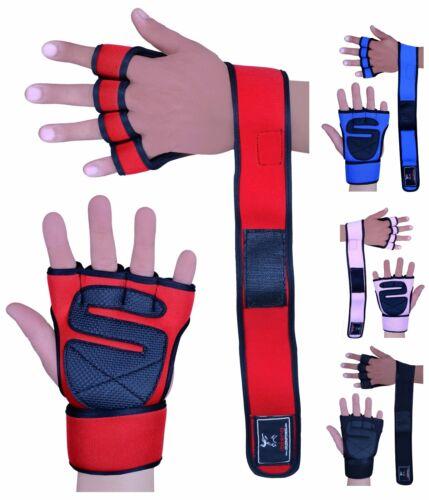 Evo Fitness Gewichteheben Handschuhe Neopren Handgelenkstütze Tücher Riemen Gel