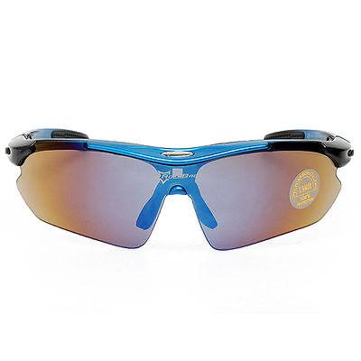 44b50e18e1d Rockbros Polarized Cycling Glasses Sunglasses Goggles Sports Glasses Blue  New