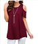 Womens-Summer-Cold-Shoulder-Tee-Top-Short-Sleeve-Blouse-Casual-T-Shirt-Plus-Size thumbnail 16