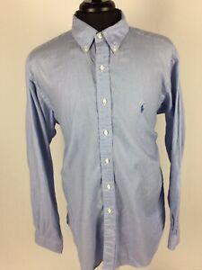 Mens-Polo-Ralph-Lauren-Dress-Shirt-Button-Down-Light-Blue-Size-17-36-37