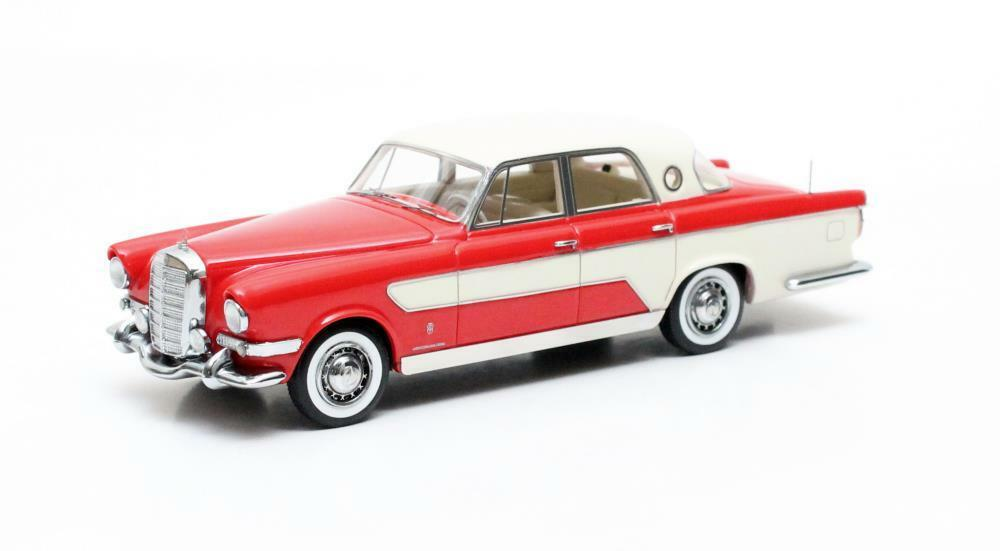 Ghia Mercedes Benz B 300C Berlina  Red White  1956 (Matrix 1 43   MX50806-011)