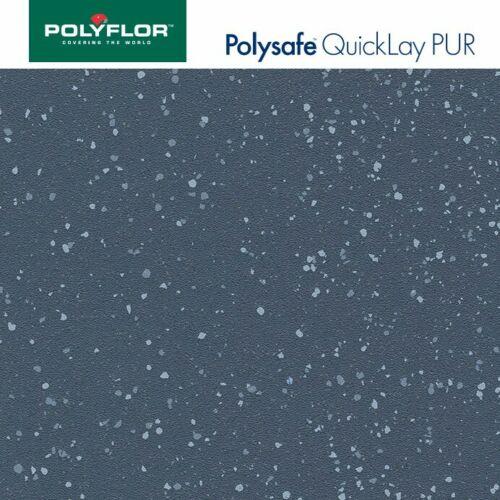 Adhesive free safety flooring anti slip vinyl Blue POLYFLOR POLYSAFE QUICKLAY