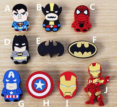 Lot Cartoon batman mixed Wooden Brooch Button Pins  DIY Gifts