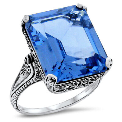 Details about  /Blue Topaz Gemstone Jewelry Yellow Color 925 Sterling Silver Ring