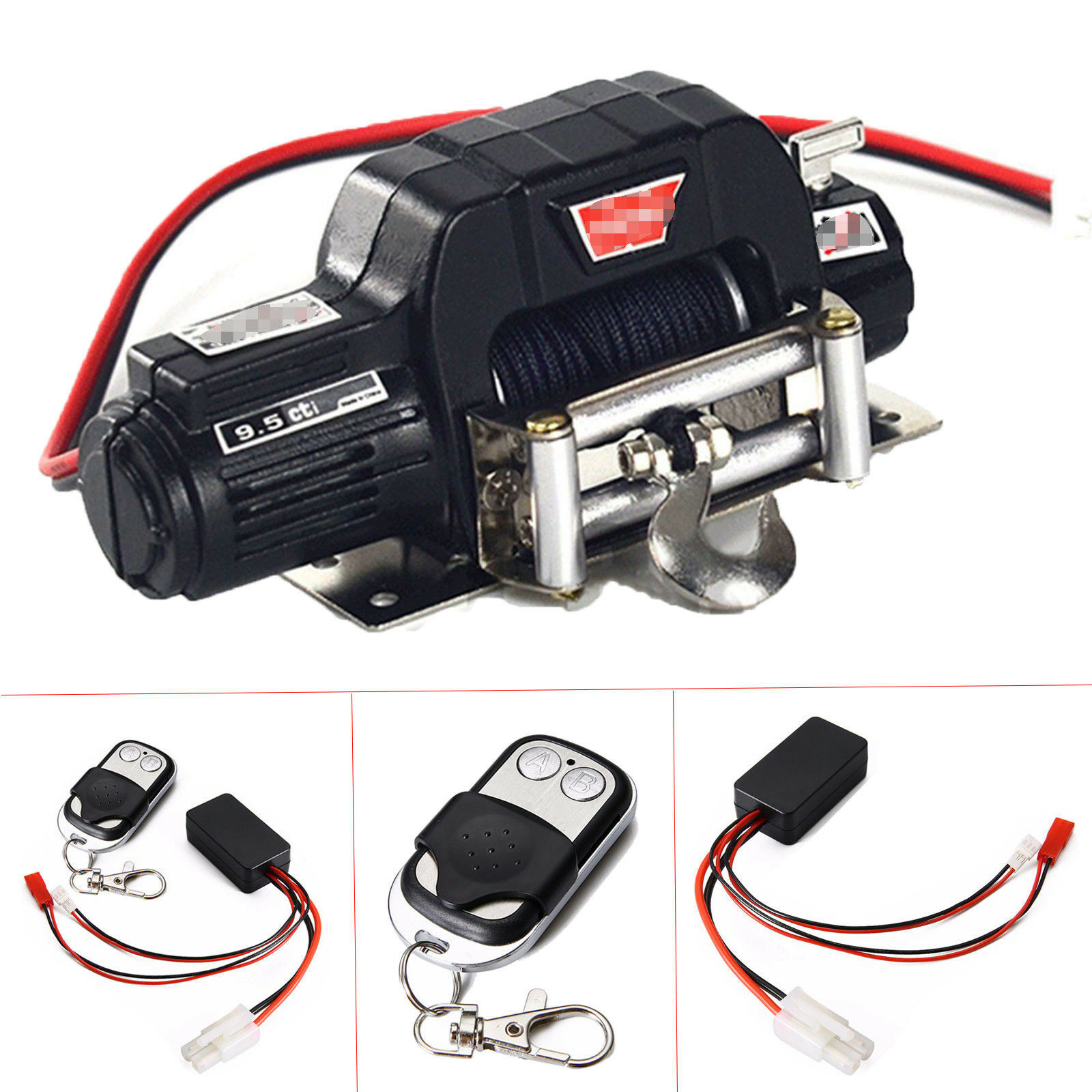 Warn  9.5cti Winch + Remote Control Receiver Kit For RC Car 1 10 SCX10 Crawler