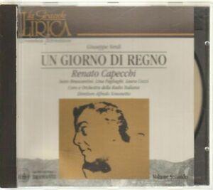 UN GIORNO DI REGNO di VERDI  Volume 2 Renato Capecchi CD Audio Musicale