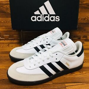 Adidas-Originals-Samba-Mens-Multiple-Sizes-White-Sneakers-Indoor-Soccer-Shoes