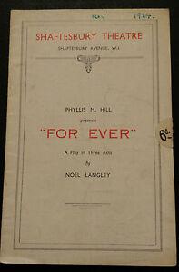 1934-Shaftesbury-Theatre-Margaretta-Scott-Denys-Blackelock-FOR-EVER