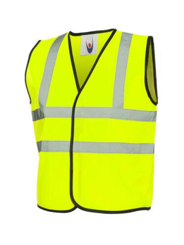 Hi-Vis-High-Viz-School-Riding-Childrens-Kids-Childs-Vest UC806 Visibility Waist