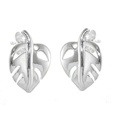 Sterling Silver Jewellery Pointed Heart Outline Small 10mm x 8mm Stud Earrin...