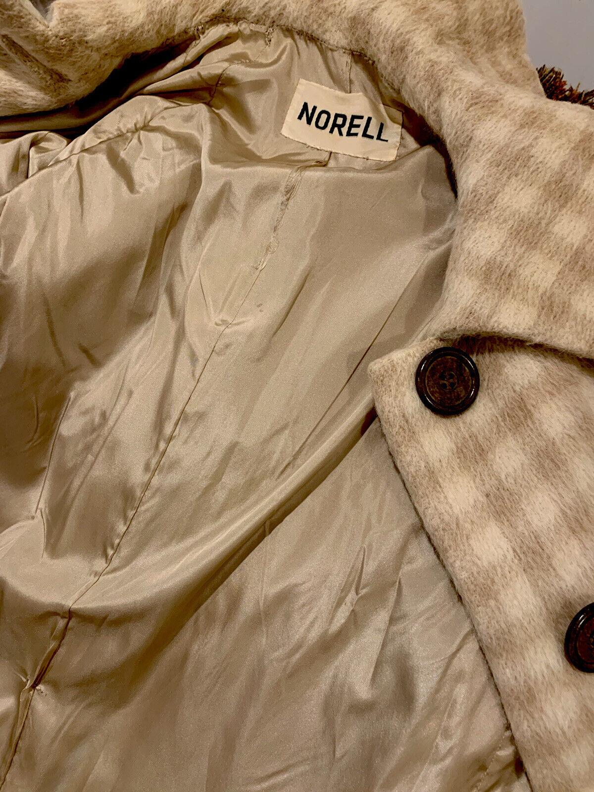 NORMAN NORELL Vtg Plaid Mohair Swing Coat Signatu… - image 7