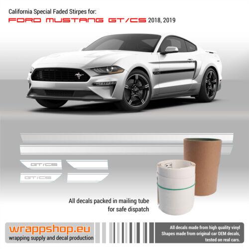 California Special GT//CS Rocker Fade Stripes Vinyl Decal 2018 2019