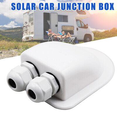 Imperméable Double Entrée De Câble Glande Câble Boîte pour panneaux solaires moterhome Camper