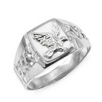 Sterling Silver American Eagle Ring Men's