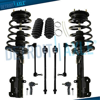 10PC Complete Front Struts and Coil Spring Assembly w//Ball Joints Detroit Axle Sway Bars Inner and Outer Tie Rods for 2003 2004 2005 2006 2007 2008 Honda Pilot
