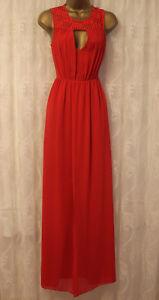 BCBGeneration-Lace-Maxi-Red-Coctail-Drape-Wedding-Party-Dress-UK-6-US-2-135