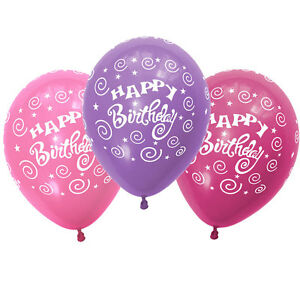 Image Is Loading Quality Latex Party Balloon Girls Pink Fuchsia Purple