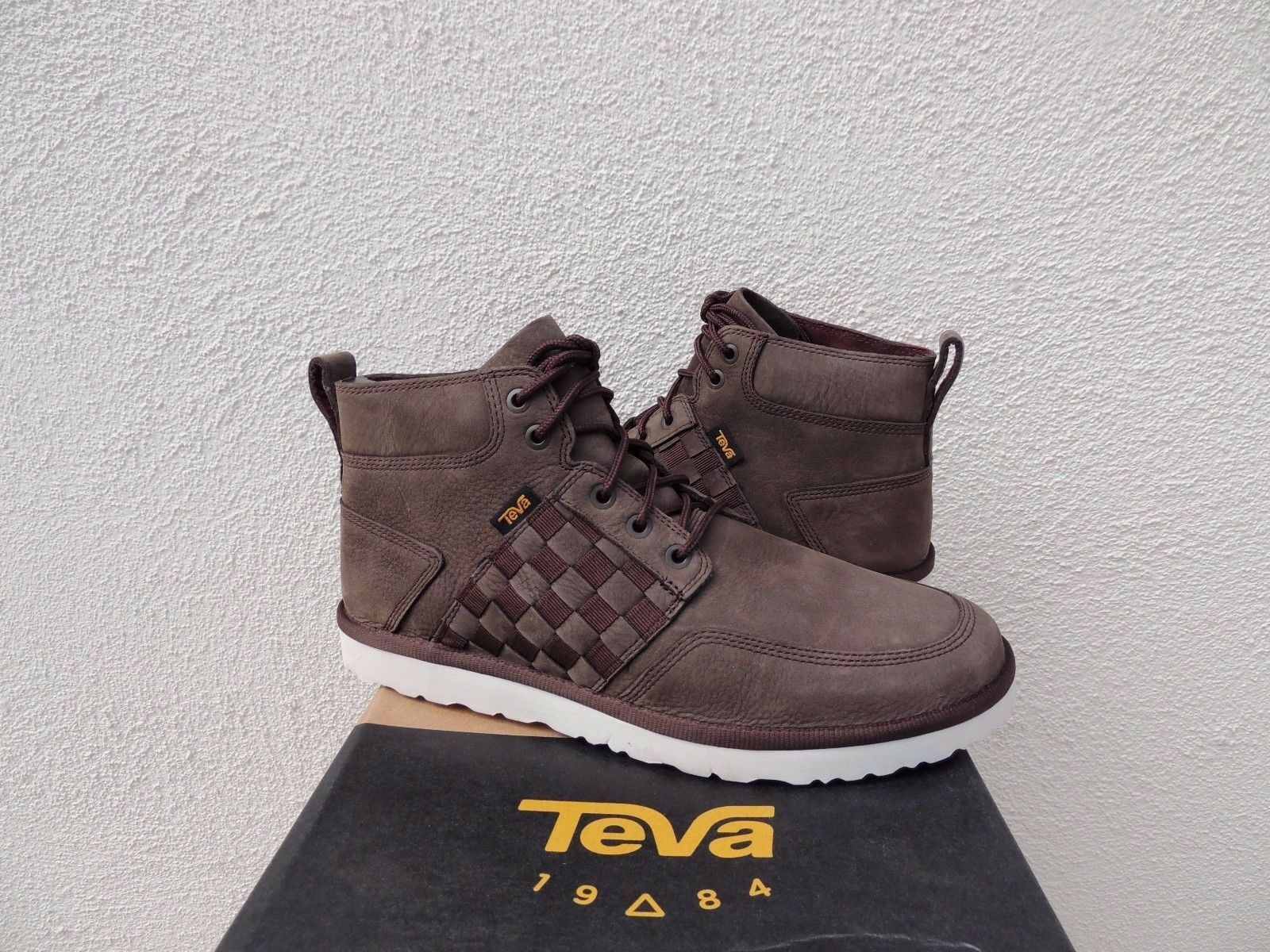 TEVA COROMAR BROWN LEATHER CHUKKA LACE-UP ANKLE BOOTS, MEN US 9/ ~NWT