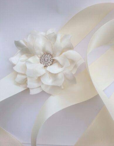 Bridesmaid Flower Girl Rhinestone Satin Sash Belt Satin Any Colour Ribbon