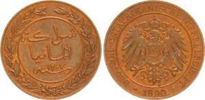 German East Africa, 1 Pesa 1890, Doa (3) Mint State, Kupferpatina 46627