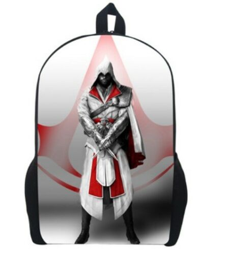 Men Daily Bag Rucksack Assassin/'s Creed Backpack School Bags For Boys