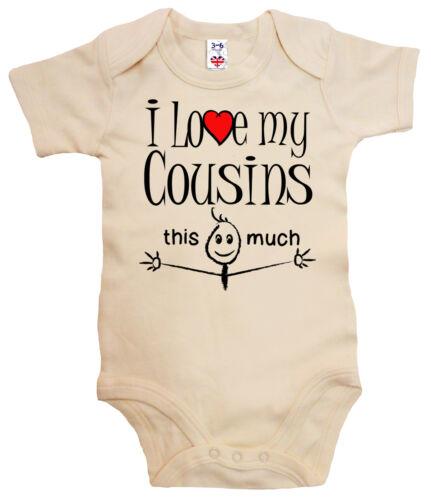 "Cousins This Much /"" Baby-Body Strampler Lustig Baby Body /"" I Love My Vetter"