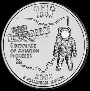 2002 D BU Ohio State Quarter Choice Uncirculated US Mint