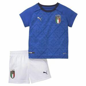 PUMA Football ITALIA FIGC Maison ensemble bebe 2020 2021 Home Set jeunes enfants