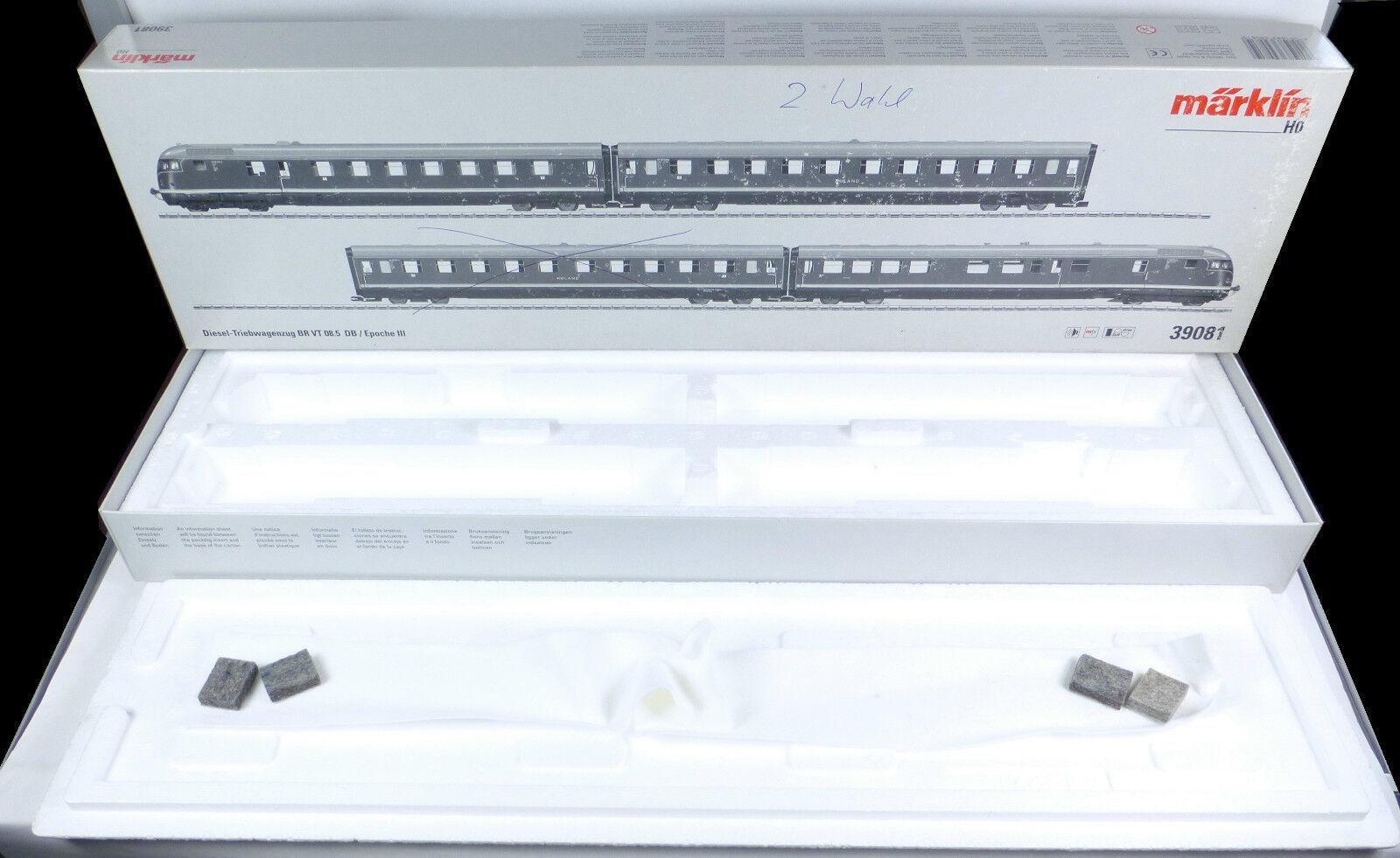 Märklin Märklin Märklin LEERKARTON 39081 Dieseltriebzug BR VT 08.5 mfx Digital Leer OVP 39080 H0    Feinbearbeitung  3c55cf