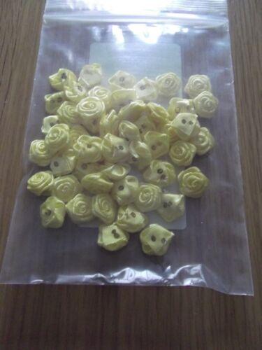 50 Capullos De Rosa De Raso Artesanales Varios Colores Disponibles