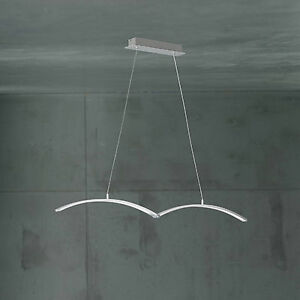 Wofi-lumiere-pendante-LED-Banks-a-2-lampes-Nickel-3-plis-reglable-24-Watt