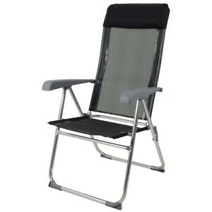chaise fauteuil camping plage pliable pliante relax alu. Black Bedroom Furniture Sets. Home Design Ideas