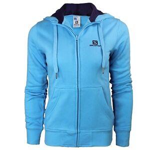 Salomon-FZ-Hoody-Damen-Kapuzenjacke-blau-Hoodie-Sweatshirt-NEU-Gr-XS
