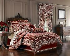 J. Queen New York Dynasty Red King 4 Pc Comforter Set