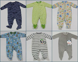 583b048a4 BABY BOYS 6M LOT OF 6 FOOTED SLEEPERS PJ S PAJAMAS FLEECE TERRY ...