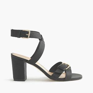 f44ce72c608 New in Box J Crew Women Buckled mid-heel sandals Black Size 8M