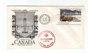 Canada 1972 $1 Vancouver #600 FDC Rosecraft cachet unaddressed INTERPEX cancel