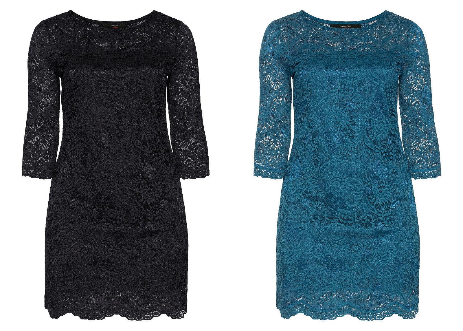 Sheego Damen Kleid Dress Abikleid Cocktail Party Abend Schwarz Blau NEU
