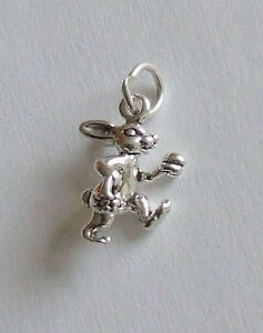 Sterling Silver 3-D Easter Bunny Charm