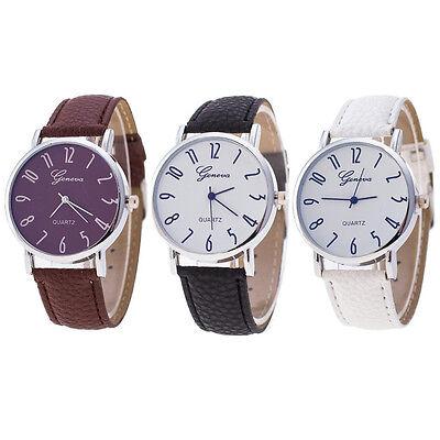 Hot Geneva Watch Women Watches Leather Casual Watch Quartz Analog Wrist Watch